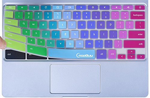Colorful-Keyboard-Cover-for-2017-Newest-Samsung-Chromebook-116-116-Chromebook-2-XE500C12-Samsung-Chromebook-3-XE500C13-116-inch-Chromebook-Rainbow