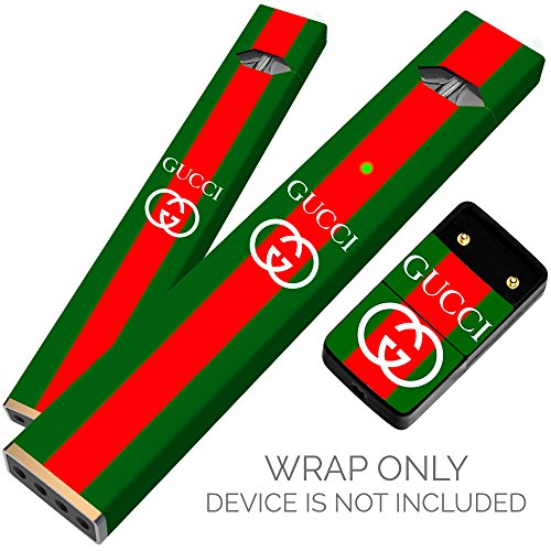 Original Skin Decal for PAX JUUL (Wrap Only, Device Is Not Included) - Protective Sticker (Gucci Green And Red) -