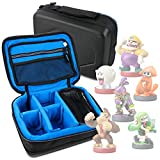 Protective EVA Portable Case (in Blue) for Nintendo Amiibo Figures (Wii U / 3DS / Nintendo Switch) - by DURAGADGET