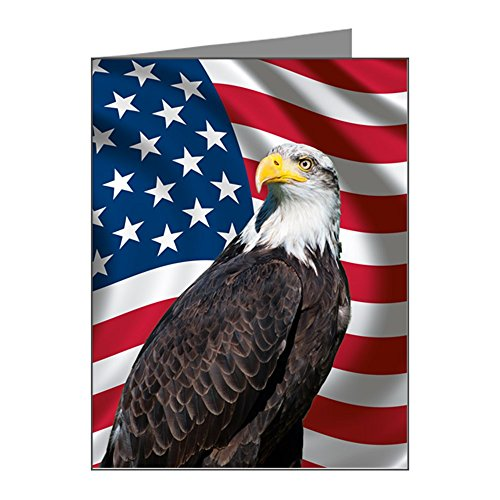 - CafePress - USA Flag With Bald Eagle Note Cards (Pk Of 20) - Blank Note Cards (Pack of 20) Matte