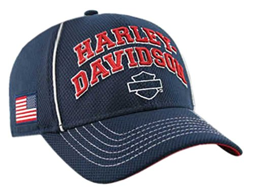 Harley-Davidson Men's Embroidered H-D Pride Baseball Cap, Navy BCC29984 (Harley Ball Cap)
