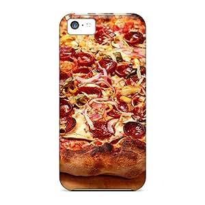 New Premium Flip Case Cover Peperoni Pizza Skin Case For Iphone 5c