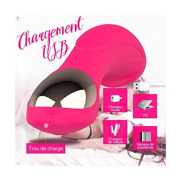Vibromasseur pour Femme,Clitoridien Puissant Silencieux Point G Vibrateur Sexuel Masseur,12 Mode Vibration Silicone…