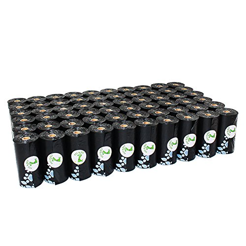PET N PET Earth-Friendly 1080 Counts Large Black Dog Waste Bags Unscented 60 Rolls (Refill Bags) (Pet Black Bags)