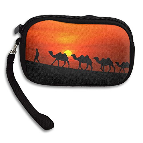Arabian Bag Deluxe Sunset Portable Small Receiving Purse Printing Camels Silhouette zHzqTwx6r