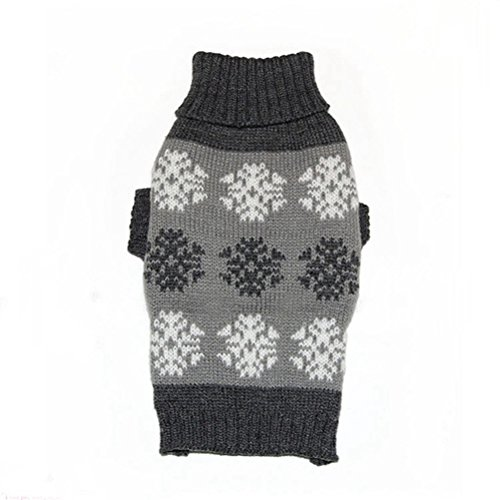 [Freerun Winter Snowflake Printed Puppy Clothes Winter Pet Sweater For Small Dogs Costume Coat - Gray,] (Link Dog Costumes)