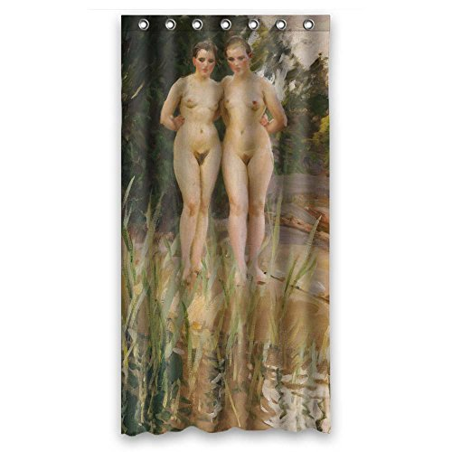 Polyester Bath Curtains Of Anders Zorn Art Painting For Husb