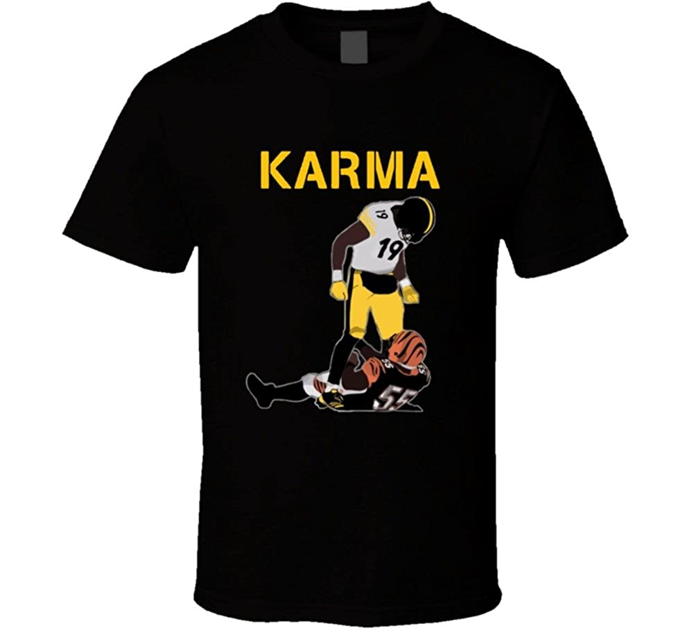 wholesale dealer 85175 3267a Steelers Karma Juju Smith-Schuster Vontaze Burfict Cool Football t Shirt