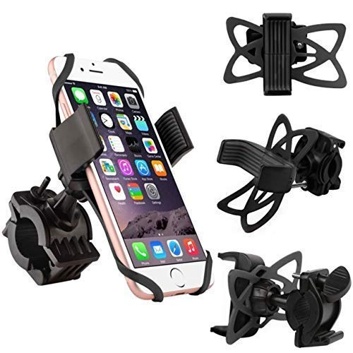 YBM Tech Phone Mount for Bike or Motorcycle, Fits iPhone X, 8 | 8 Plus, 7 |7 Plus, iPhone 6s | 6s Plus, Samsung Galaxy S9,S7,S6,S5| Plus,Note 8, All Phones Up to 3.7 Wide