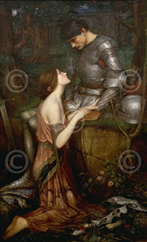 - Lamia J.W. Waterhouse Fantasy Knight Medieval Romance Love Poster (Choose Size, Print or Canvas)