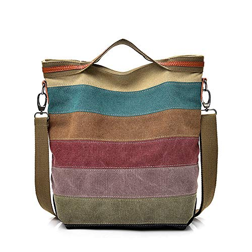 Christian Dior Stripes - Women's Stripe Crossbody,Clearance!AgrinTo Casual Canvas Splice Shoulder Bag Handbag Totes