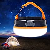 Yustar USB Rechargeable LED Camping Light And Emergency Lantern 3W Super Bright Multifunctional LED Portable Emergency Tent Night Light with SOS lighting Mode, Magnetic Bottom, Pure white Lighting …