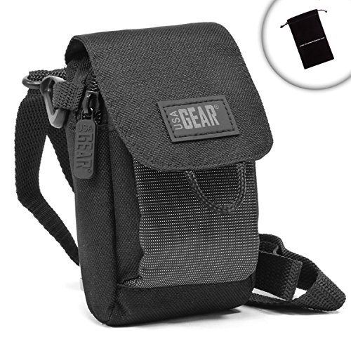 USA Gear Bushnell Rangefinder Holster Case Bag with Shoulder Strap & Belt Loop - Fits Scout DX 1000 ARC , The Truth with Clearshot , Sport 850 , G-Force DX - Americas Reviews Optical Best
