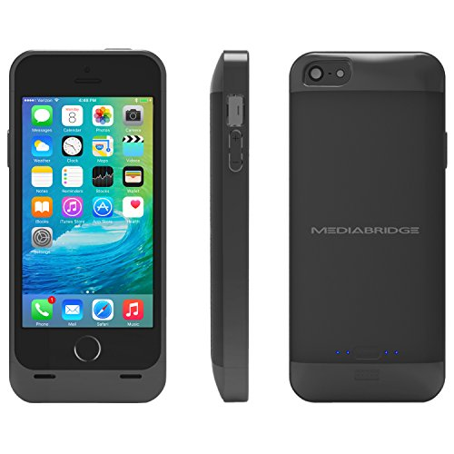 Price comparison product image Mediabridge Extended Battery Case for iPhone SE / iPhone 5S / iPhone 5 - Black - (Part# PC1-IP5-BLK )