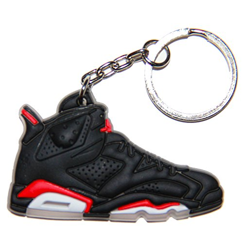 Air Jordan Shoe Key Chain Generation 6 VI Black Red White Colors B66