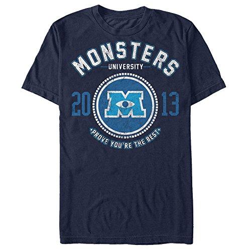 Fifth Sun Monsters Inc Men's Best College Logo Navy Blue T-Shirt
