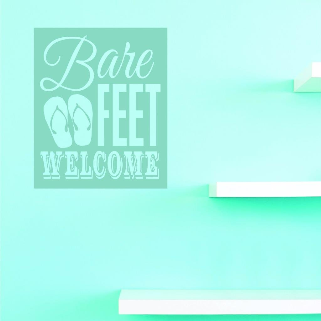 Multi 20 x 30 Design with Vinyl US V JER 3367 3 Top Selling Decals Bare Feet Welcome Wall Art Size 20 Inches X 30 Inches Color