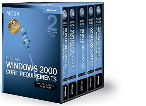 MCSA Self-Paced Training Kit: Microsoft Windows 2000 Core Requirements Exams 70-210 2nd Edition and 70-218 70-216 70-215