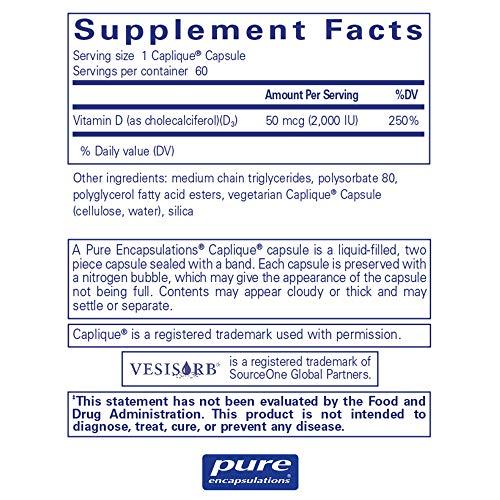 Pure Encapsulations - Vitamin D3 VESIsorb - Hypoallergenic Supplement for Enhanced Vitamin D Absorption - 60 Caplique Capsules by Pure Encapsulations (Image #1)