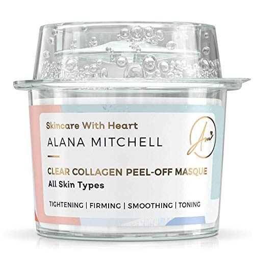 Anti Aging Peel Off Collagen Face Mask For All Skin Types By Alana Mitchell Instantly Reduces Wrinkles & Fine Lines - Tightening Firming Smoothing & Toning - All Natural
