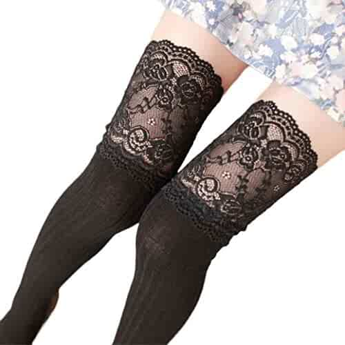 20cc5da70 Boot Cover TOOPOOT Women Girls Over Knee Leg Warmer Lace Socks