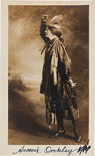 "Annie""Little Sure Shot"" Oakley Photograph Signed 1919"