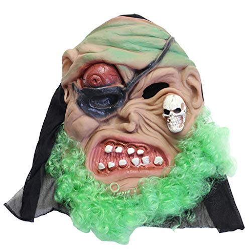 Halloween Mask Makeup Party Ghost Festival Horror Scary Ghost Mask Latex Pirate Mask (Color : 5) ()