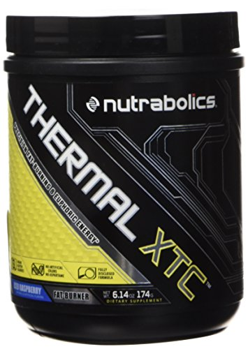 Nutrabolics Thermal XTC Iced Raspberry Powder - Super Thermogenic Fat Burner for Energy and Focus (30 Servings) 174 grams