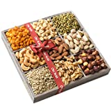 Valentines Day Gift Basket, 9 Mixed Nuts and Seeds Variety Gift Basket, Freshly Roasted Nuts Valantines Day Package – Oh! Nuts