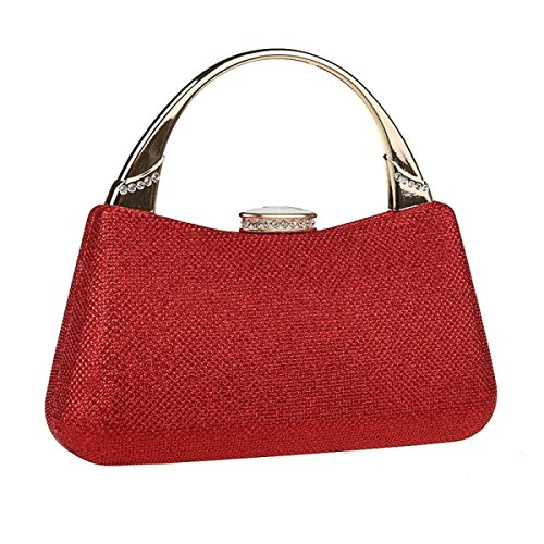 La Sra Diamantes Bolso De Noche De Mini Bolso De Novia Bolso De La Dama De Honor Paquete Bolso Del Vestido Red