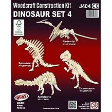 Dinosaur Set 4: Woodcraft Quay Construction Wooden 3D Model Kit J404 Age 5 plus