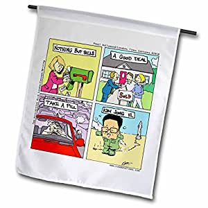 Londons Times Gen. 2 Society Culture Cartoons - Things That Rhyme - 18 x 27 inch Garden Flag (fl_6840_2)
