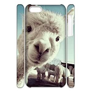 ALICASE Diy 3D Protection Hard Case Lama Pacos For Iphone 5C [Pattern-6]