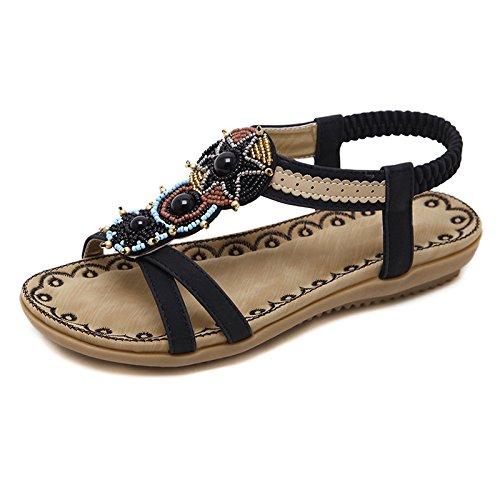 A cómodas Las Bohemias Playa de Suave Sandalias YMFIE del del Verano abren Zapatos Antideslizantes señoras Fondo Las de pie Uwdgxdv