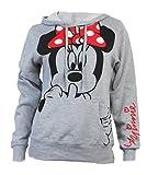Disney Junior Minnie Mouse Silent Hoodie Fleece Pullover Heathered Grey Large