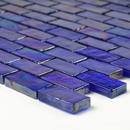 Amazon.com: Azul cobalto con textura iridiscente azulejo de ...