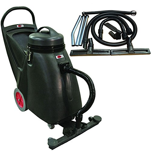 Viper Cleaning Equipment SN18WD Shovelnose 18 gal Wet Dry Vacuum, 24 Cleaning Path, 2 10 Non-Marking Wheels, 50 Power Cable, 2 Stage Vacuum Motor, 9 Vacuum Hose
