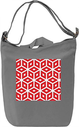 Red Print Borsa Giornaliera Canvas Canvas Day Bag| 100% Premium Cotton Canvas| DTG Printing|