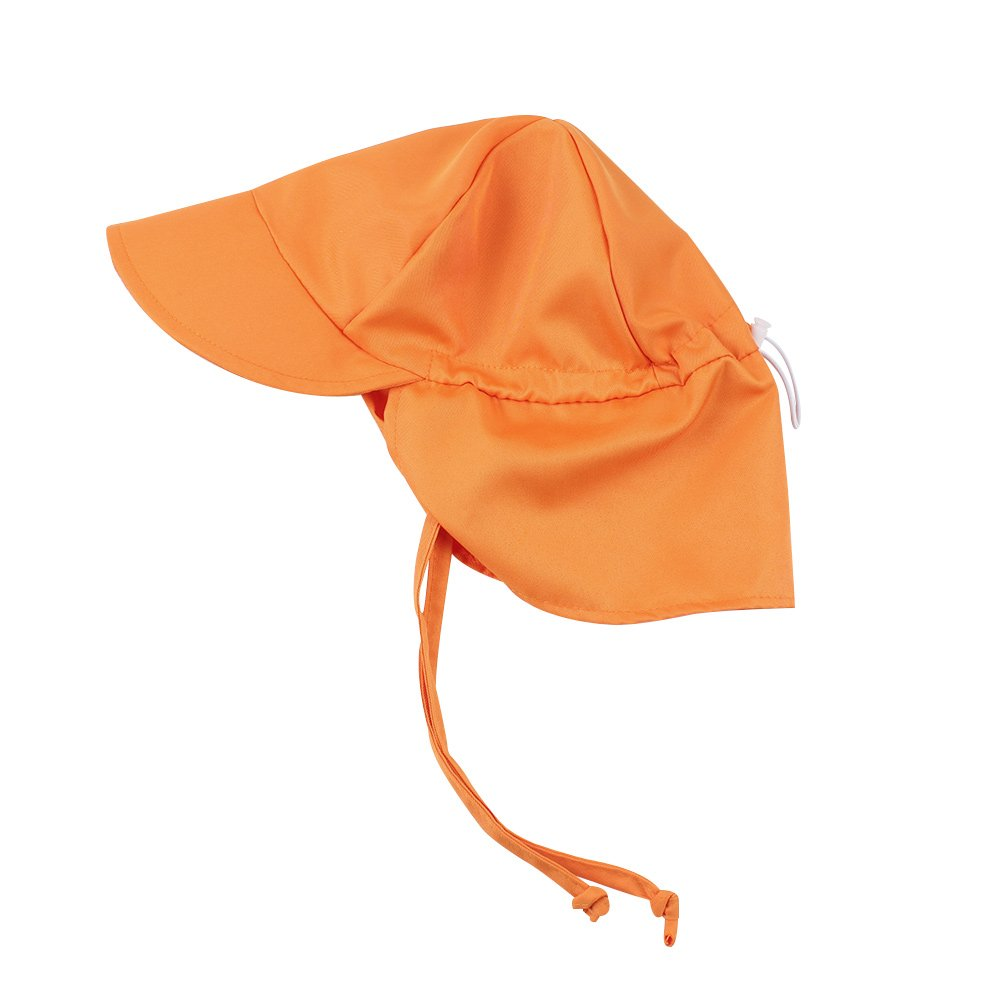 BAVST Baby Sun Hat Boy Beach Hats Girl Swim Summer Toddler Neck Face Flap Cover Kids Caps UV Protection (Orange)