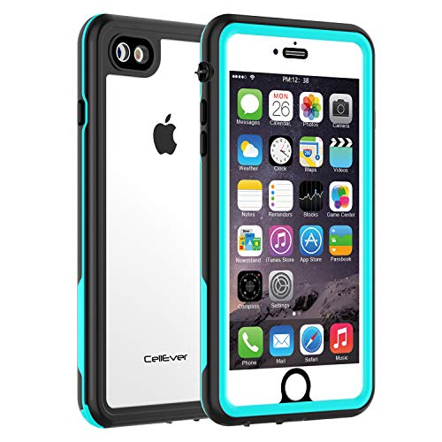CellEver iPhone 7/8 Clear Case Waterproof Shock Absorbing IP68 Certified SandProof Snowproof Full Body Protective Transparent Cover Fits Apple iPhone 7 and iPhone 8 (4.7