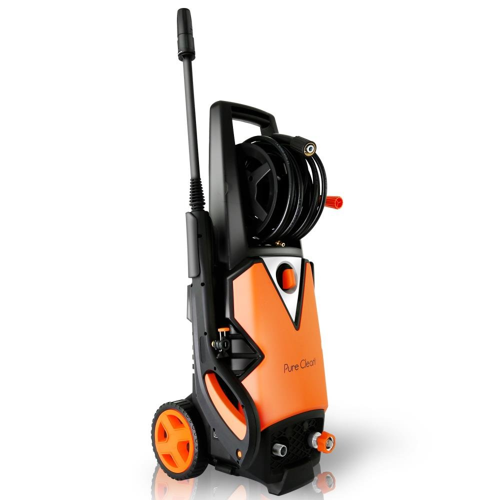 Serenelife Electric Pressure Washer - Powerful Heavy Duty 2000PSI Manual Adjustable High Low Cold Water Sprayer System & Rolling Wheels - Power Wash Spray Clean Concrete Driveway Car Home SLPRWAS56 by SereneLife