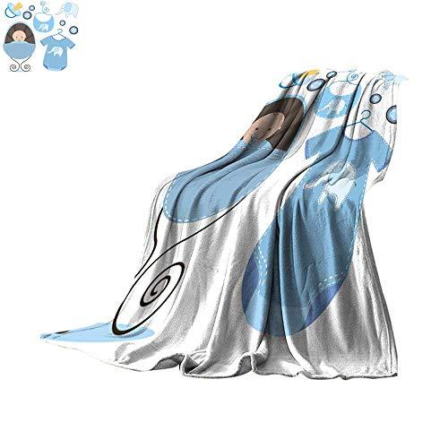 - Angoueleven Blanket as Bedspread Scrapbook Baby Shower Throw Blanket 60