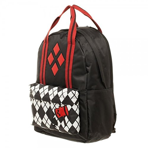 DC Comics Harley Quinn Pocket w/Top Handle Backpack by Bioworld (Image #1)