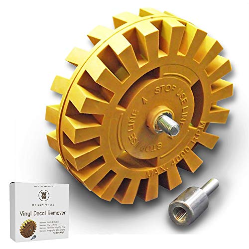 Whizzy Wheel Car Decal and Sticker Remover with Drill Adapter Kit ()