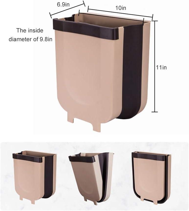 FuYouTa Poubelle Suspendue Poubelle Pliable Poubelle Murale Cuisine Poubelle Suspendue pour WC Salle de Bain Salon