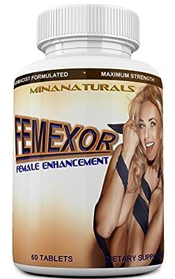 FEMEXOR Natural Female Enhancement & Libido Booster. Women Enhancer & Natural Arousal Pills. Increases Energy, Pleasure & Performance. 60 Tablets