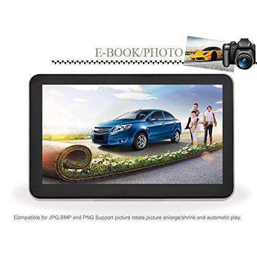 Kingdao 12,7cm/17,8cm Camion de voiture de navigation GPS Trip SAT NAV 8Go 256ROM UK EU au USA Canada Cartes lecteur MP4FM gratuit à vie mises à jour de carte 30%OFF