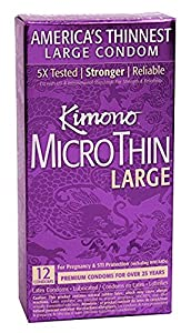 Kimono MicroThin Large - 12 pack (pack of 2) - 2 Year Expiration