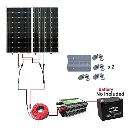 ECO WORTHY Monocrystalline Battery Charger Solar product image