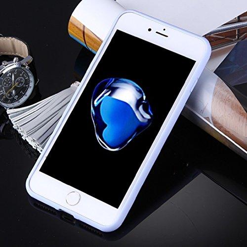 MXNET IPhone 7 Plus Fall, Mode Mädchen in Gelb und tragen Gläser Muster weichen TPU Schutzmaßnahmen zurück Fall Fall mit Quaste Anhänger CASE FÜR IPHONE 7 PLUS ( SKU : Ip7p1489e )